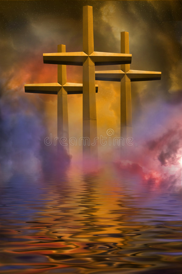 trzy krzyżyki obraz royalty free