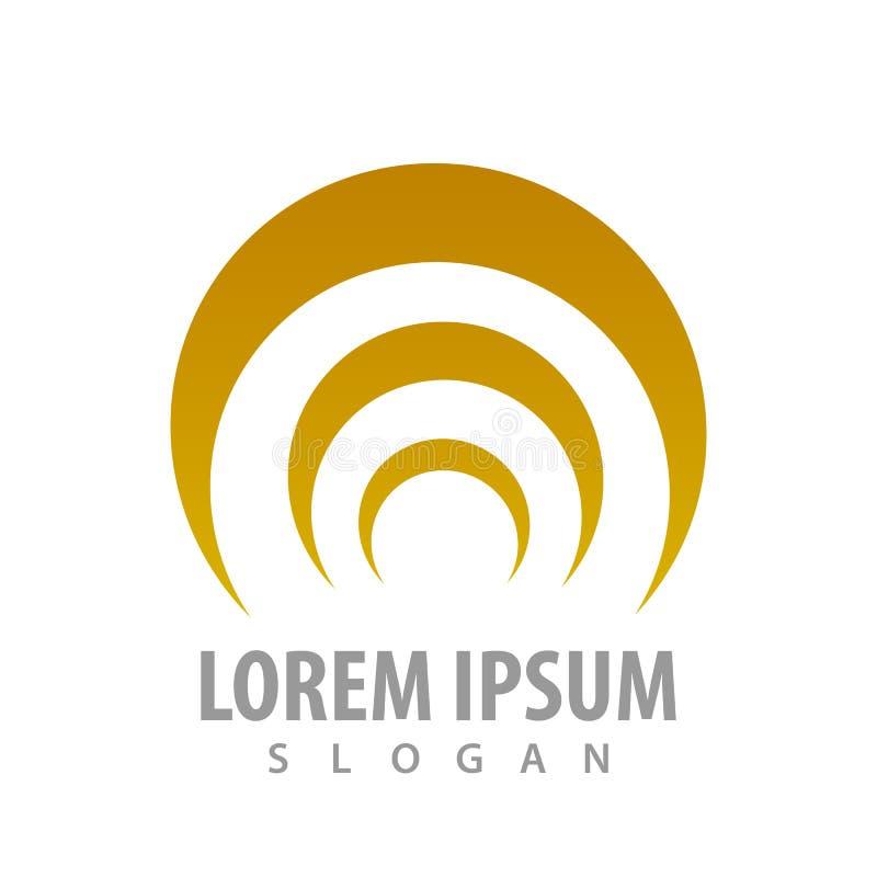 Trzy kształta logo pojęcia koszowy projekt Symbolu szablonu elementu graficzny wektor ilustracja wektor