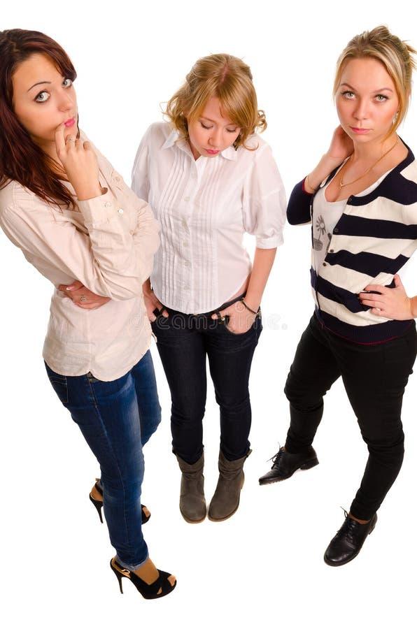 Trzy młoda kobieta ma obraz stock