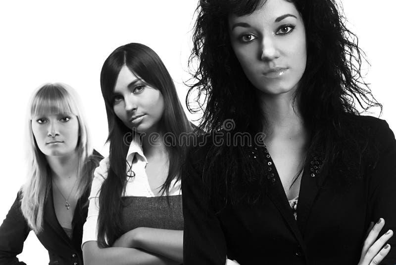 Trzy młodej pomyślnej biznesowej kobiety zdjęcia royalty free