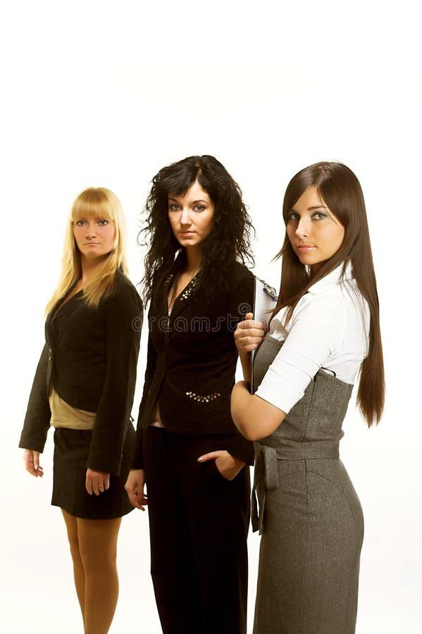Trzy młodej pomyślnej biznesowej kobiety obraz royalty free