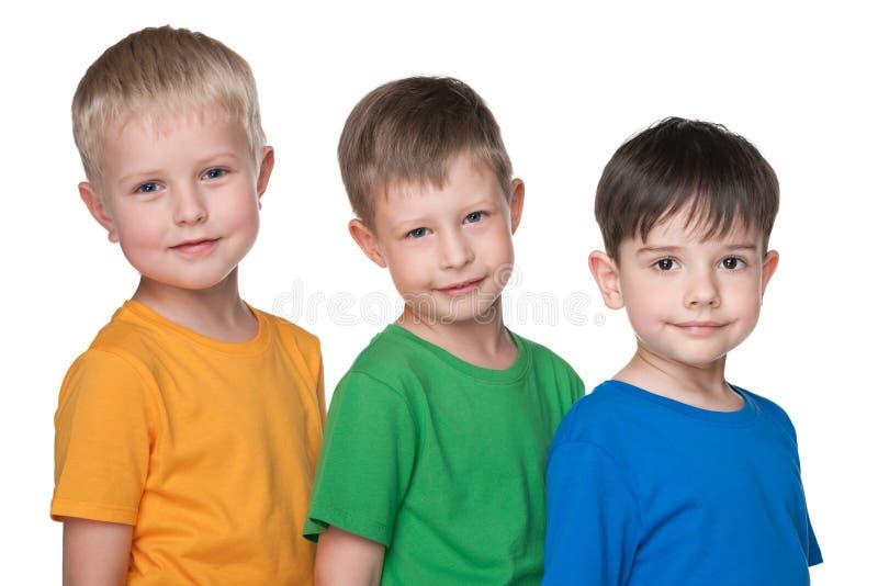 Trzy małego przyjaciela wpólnie fotografia stock