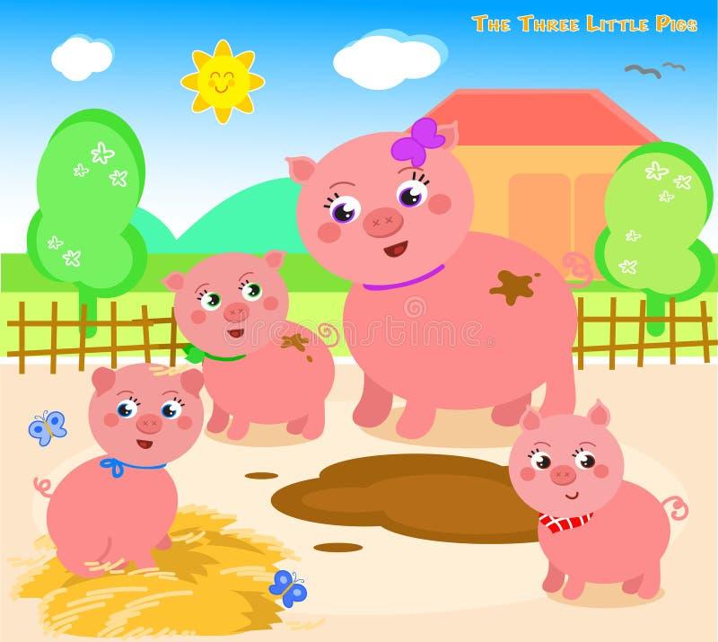 Trzy małej świni 1 ilustracji