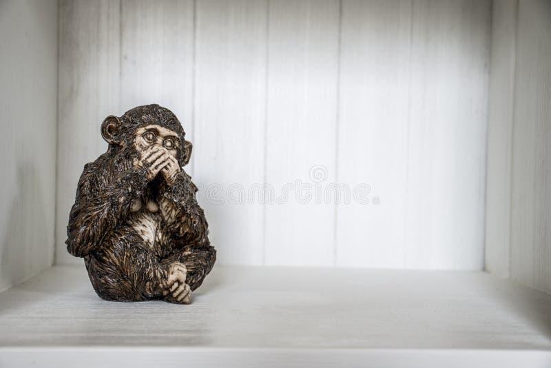 Trzy małpy Widzią 4 rzeźba Słucha Mówić obraz royalty free