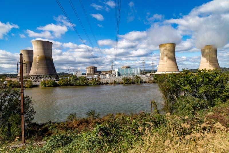 Trzy Mile Island elektrownia jądrowa obrazy royalty free