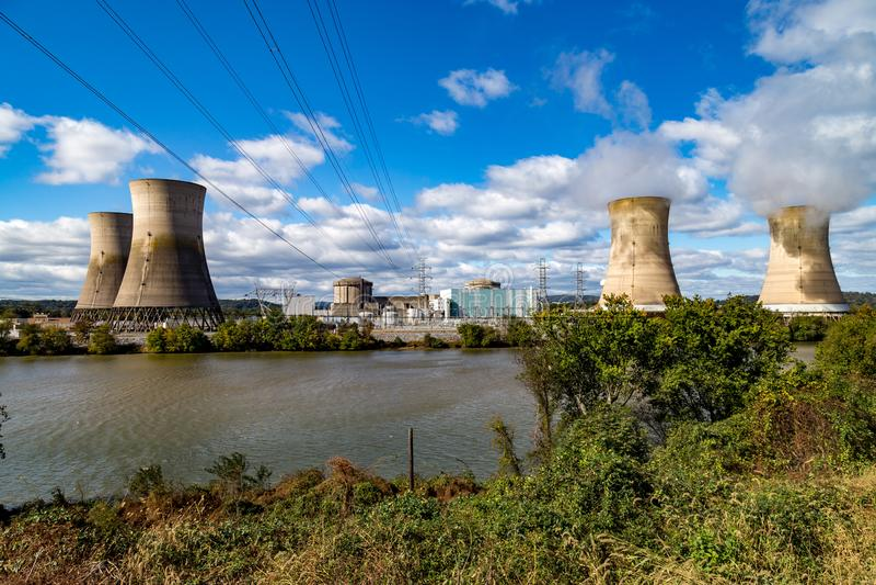Trzy Mile Island energa jądrowa Wywołująca roślina fotografia royalty free