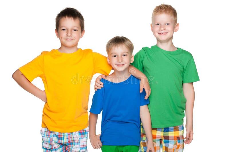 Download Trzy Moda Rozochoconego Małego Przyjaciela Obraz Stock - Obraz złożonej z szczęśliwy, eurydice: 41951295