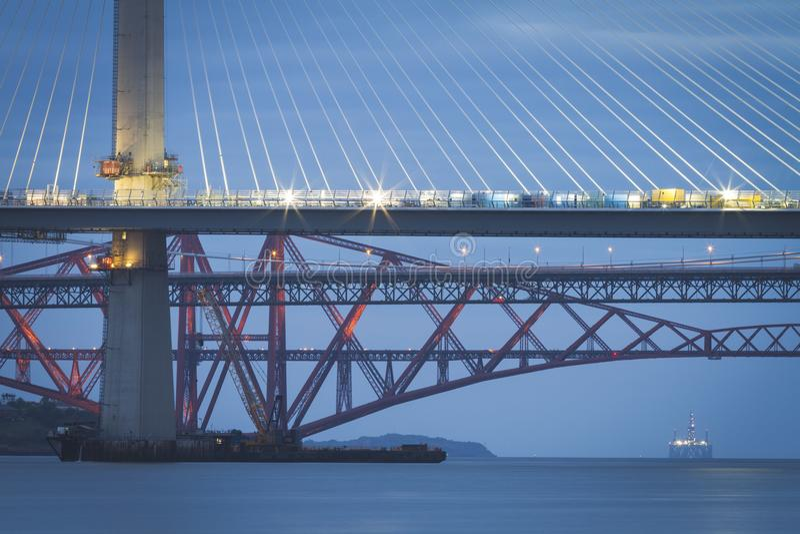 Trzy mosta naprzód zdjęcie royalty free