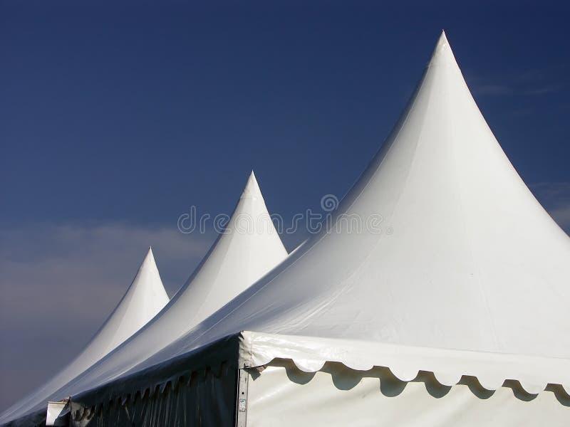 trzy namioty zdjęcia royalty free