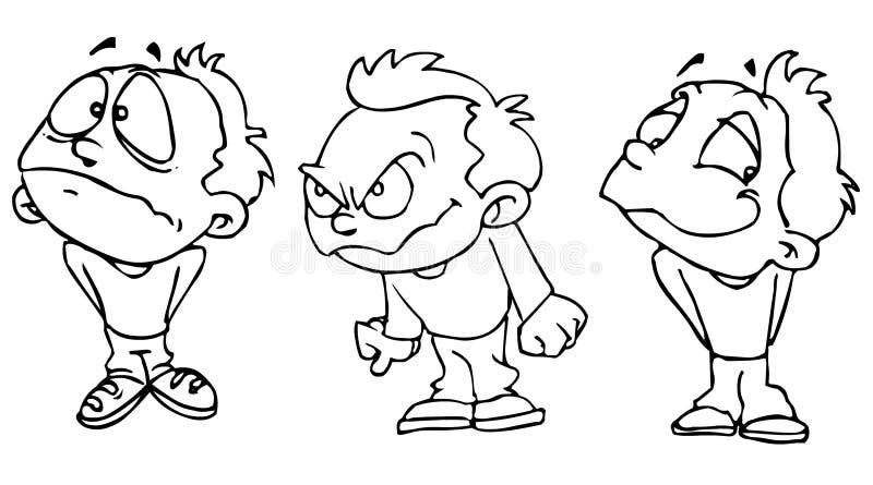trzy nastrojów royalty ilustracja