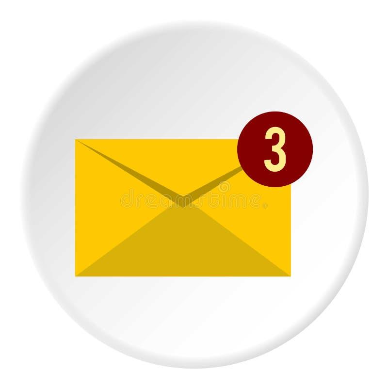 Trzy nowa e-mailowa ikona, mieszkanie styl ilustracja wektor