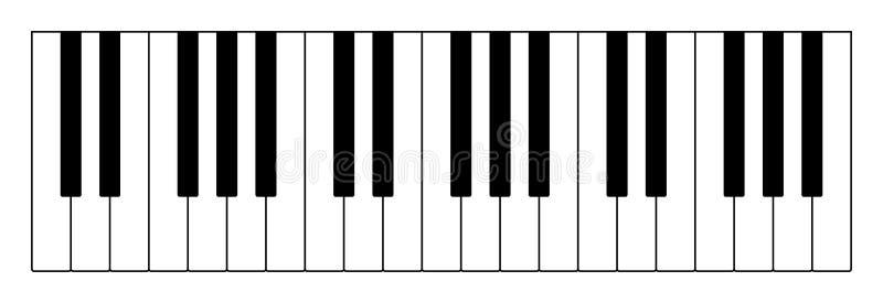Trzy oktawy na muzykalnej klawiaturze ilustracja wektor
