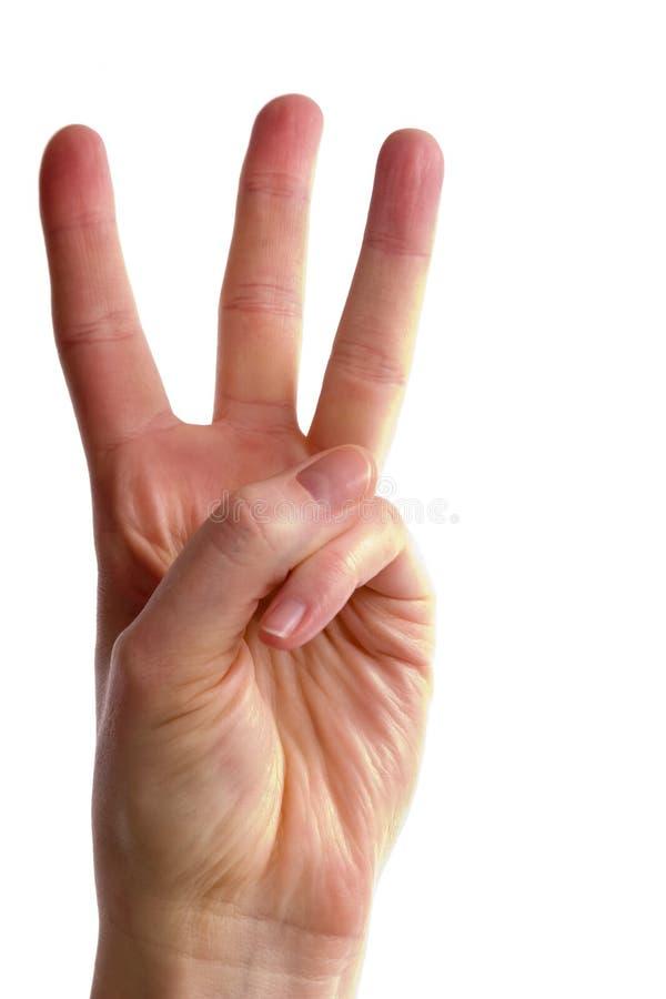 trzy palce zdjęcie royalty free
