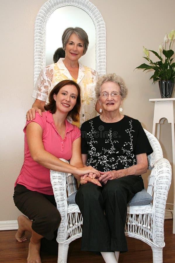 trzy pokolenia zdjęcia royalty free