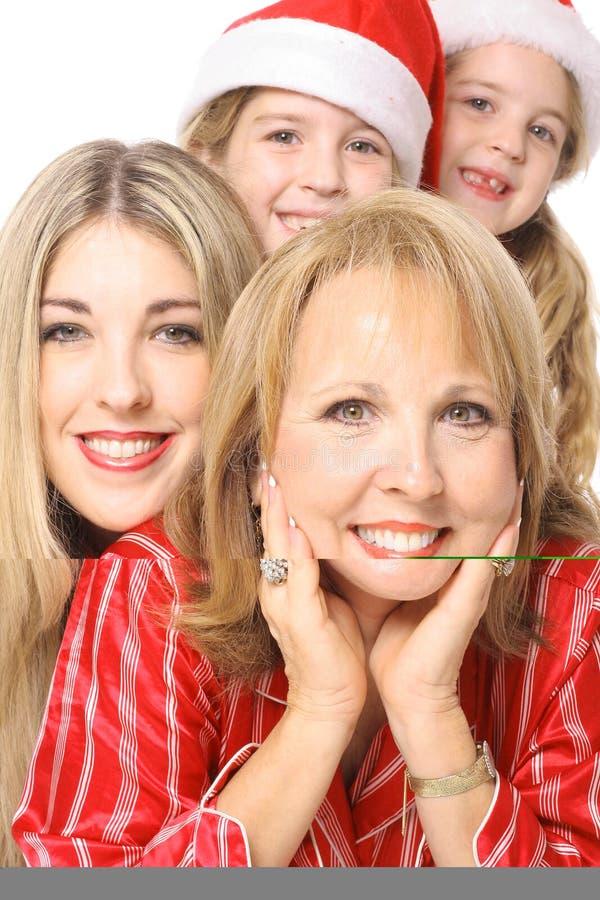 trzy pokolenia dziewczyny szczęśliwi zdjęcia royalty free