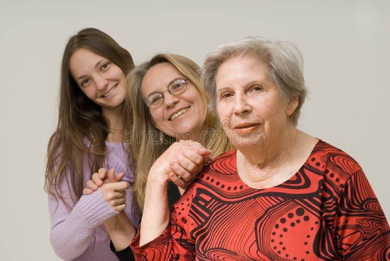 trzy pokolenia kobiet zdjęcie stock