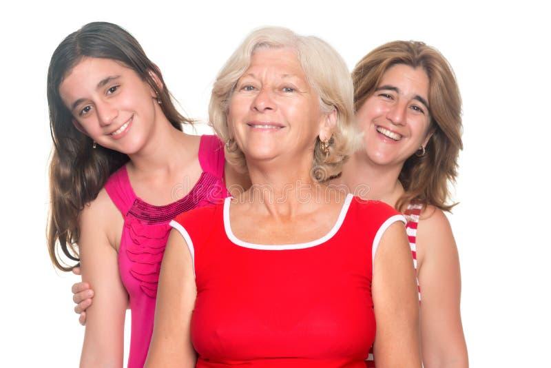 Trzy pokolenia latynoski kobiet ono uśmiecha się fotografia royalty free