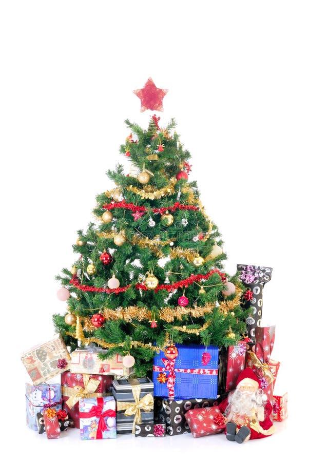 trzy prezenty świąteczne fotografia royalty free