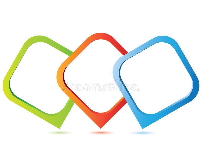 Trzy proces diagram ilustracji