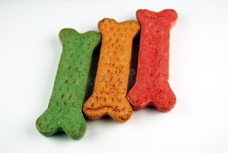 trzy przysmaki psa. obraz stock