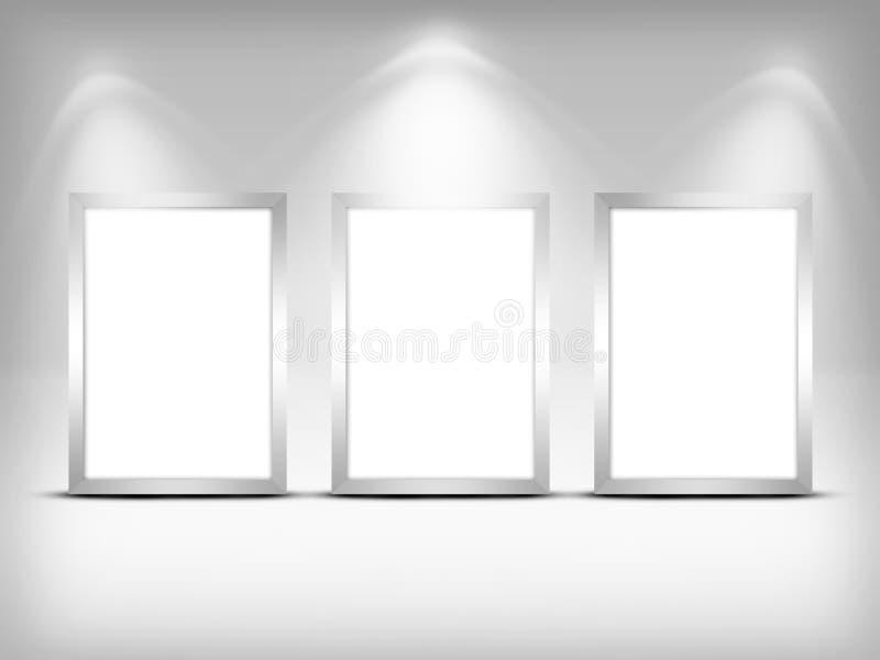 Trzy pustej ramy. royalty ilustracja