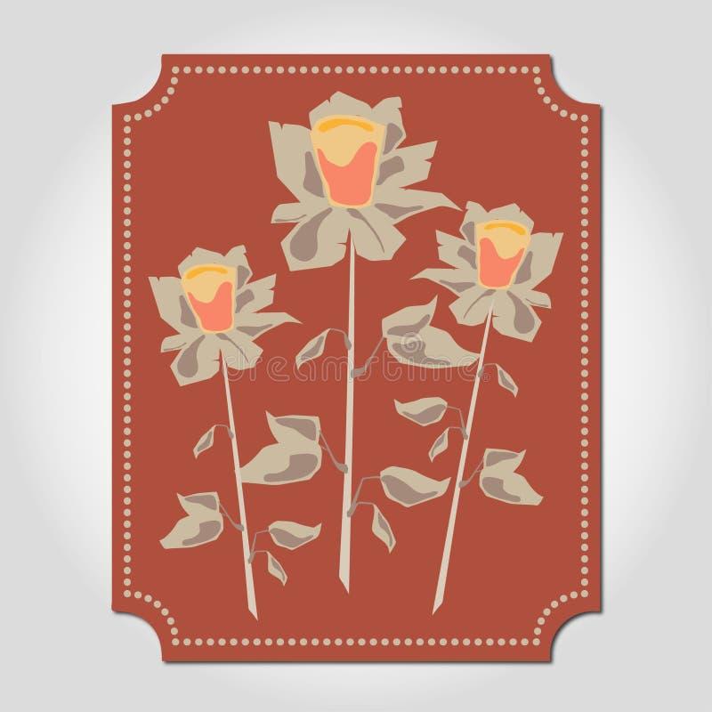 trzy róże royalty ilustracja