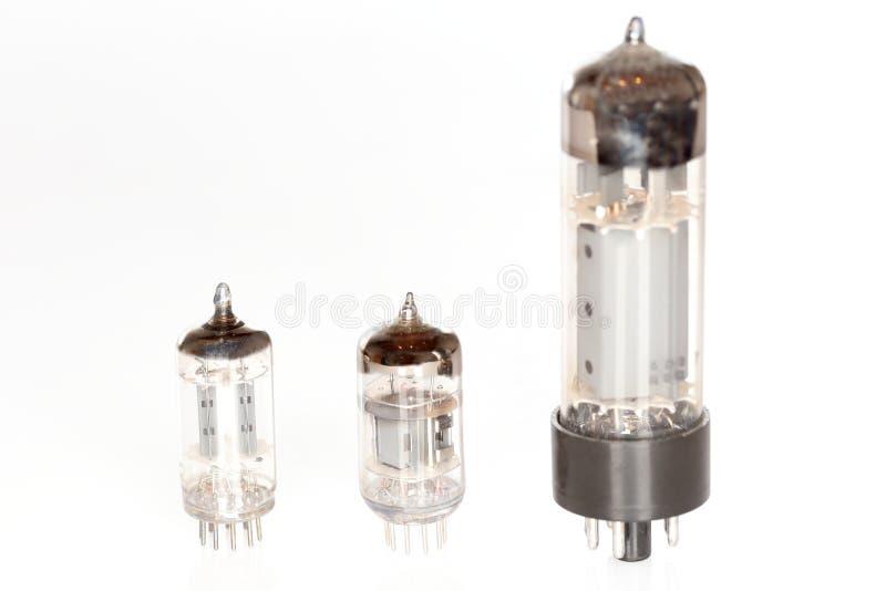 Trzy różnej elektrycznej tubki fotografia royalty free