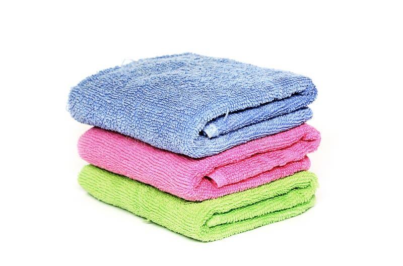 trzy ręcznika zdjęcie royalty free