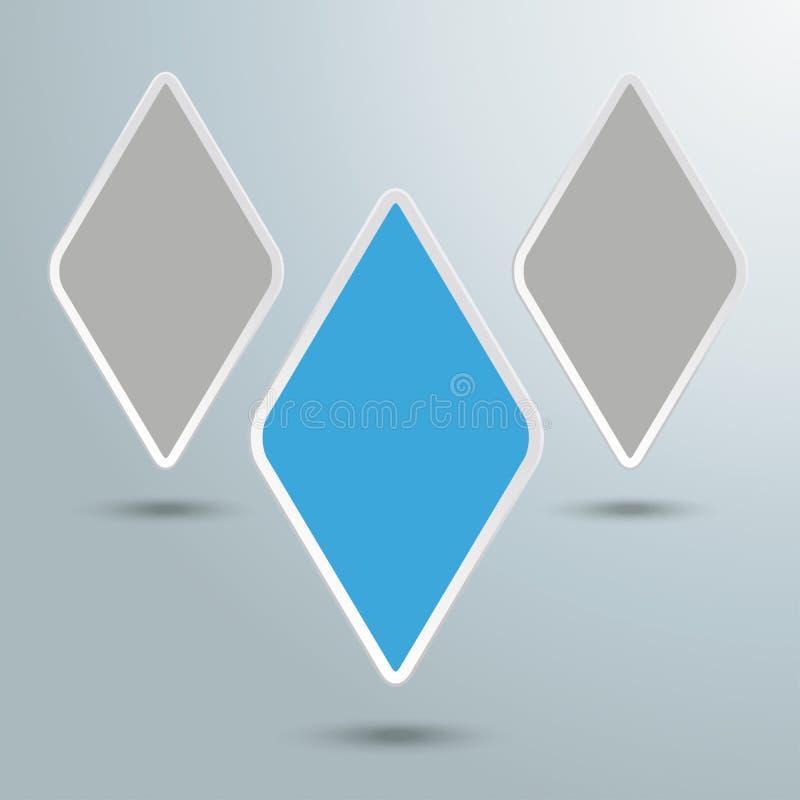 Trzy Rhombus ilustracji