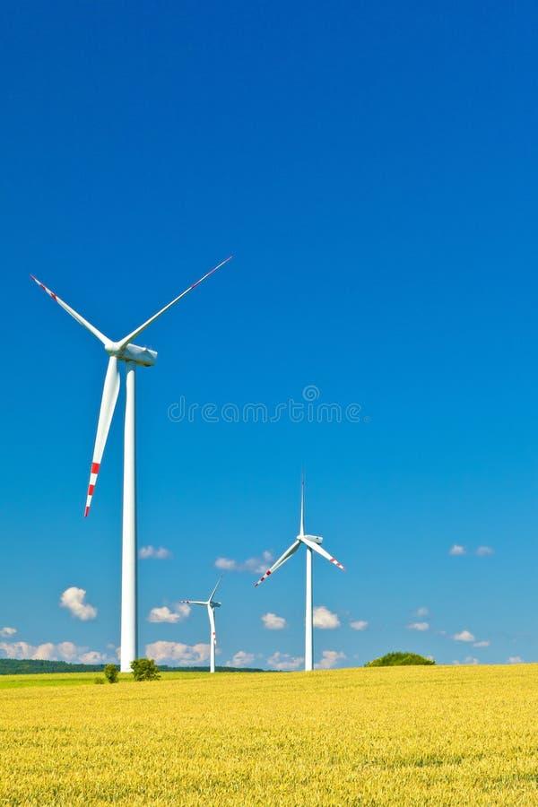 Trzy silnika wiatrowego obraz stock
