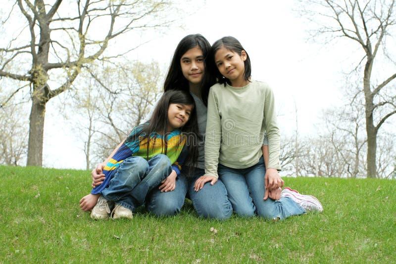 Trzy siostry zdjęcie royalty free