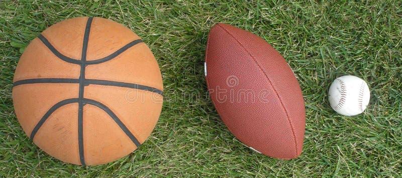 trzy sporty. obrazy stock