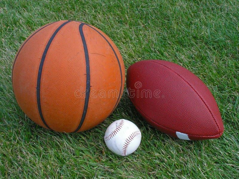 trzy sporty. zdjęcie stock