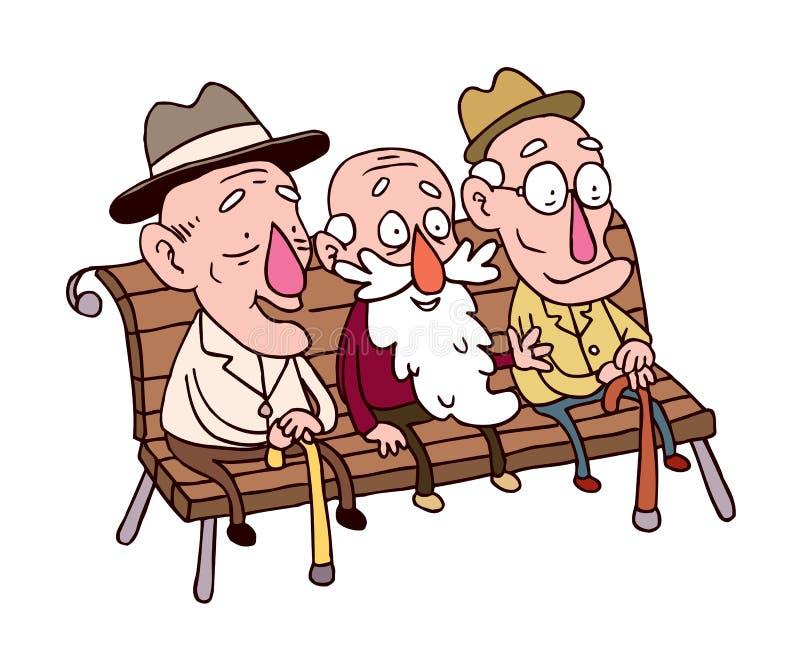 Trzy stary człowiek ilustracji