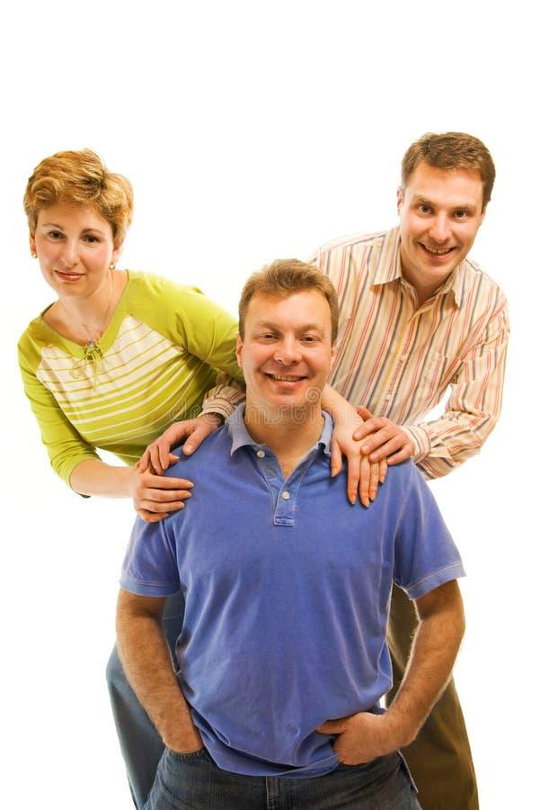 trzy szczęśliwi przyjaciele fotografia royalty free