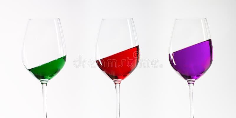 trzy szklanki wina obraz stock