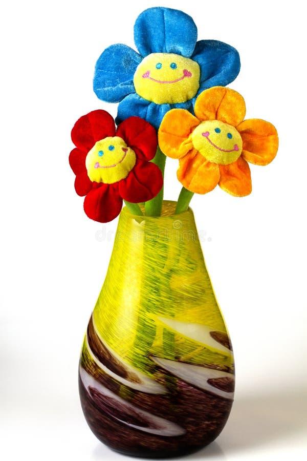 Trzy sztuczni kwiaty obraz royalty free
