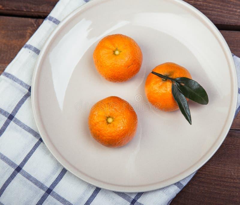 Trzy Tangerines obraz stock