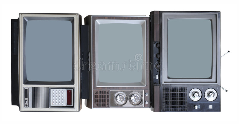 trzy telewizory roczne obraz royalty free