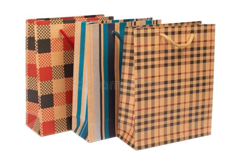 trzy torby na zakupy obraz stock