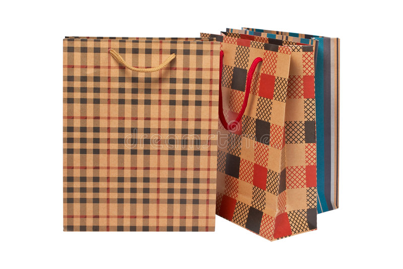 trzy torby na zakupy zdjęcia stock