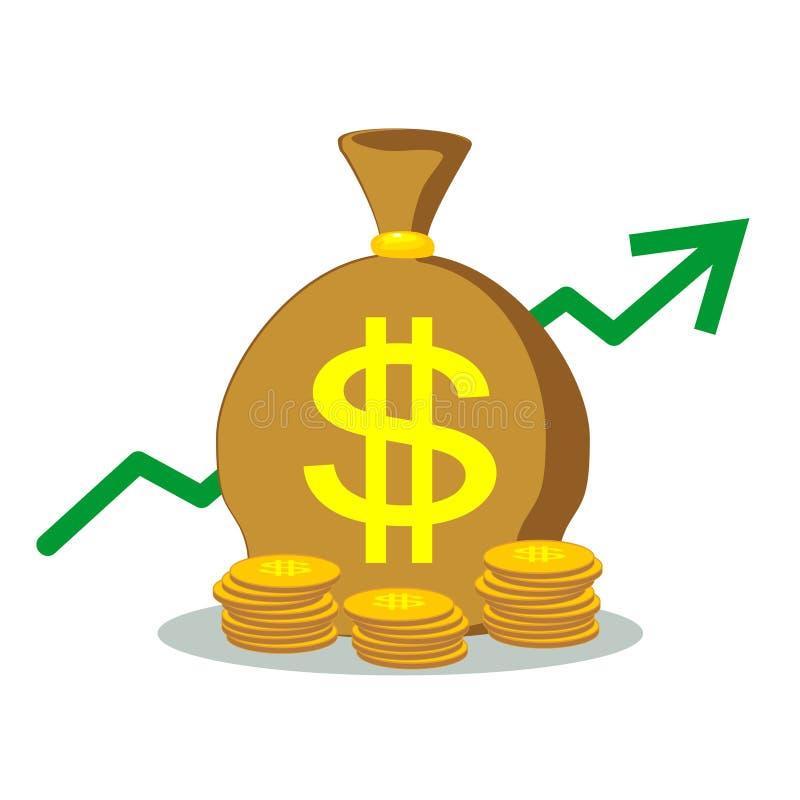 Trzy torby pieniądze wektor ilustracji