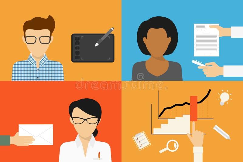 Trzy typ outsourcing ilustracja wektor