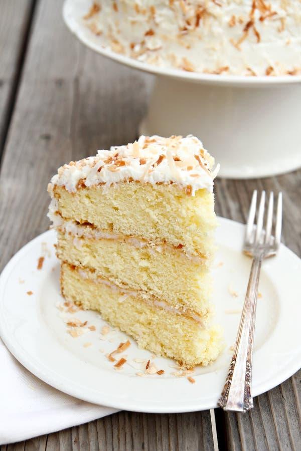 Kokosowy tort zdjęcia stock