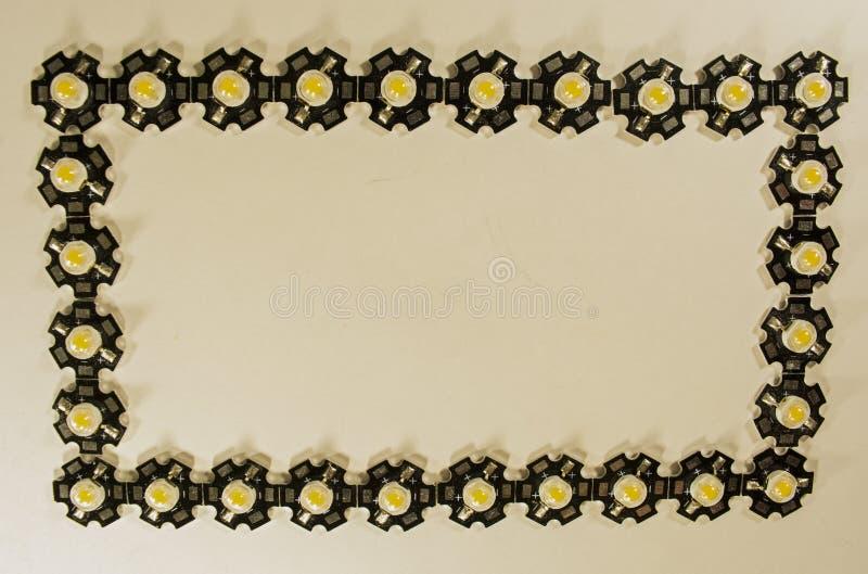 Trzy wata LEDs na lekkim tle LEDs dla rośliien zdjęcie stock