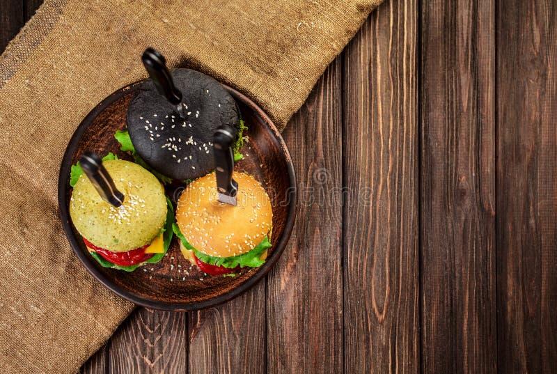 Trzy wyśmienicie hamburgeru obrazy royalty free