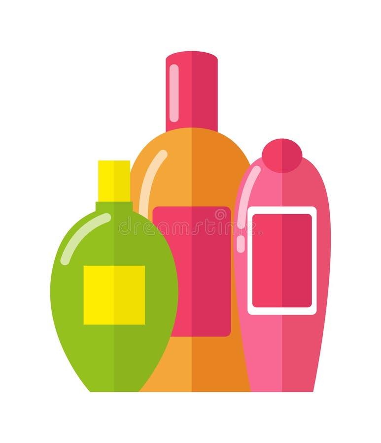 Trzy wzoru butelka wektoru ilustracja ilustracji