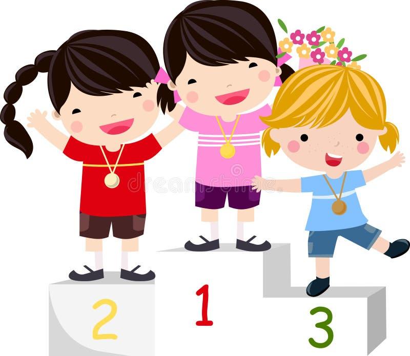 trzy zwycięzca ilustracja wektor
