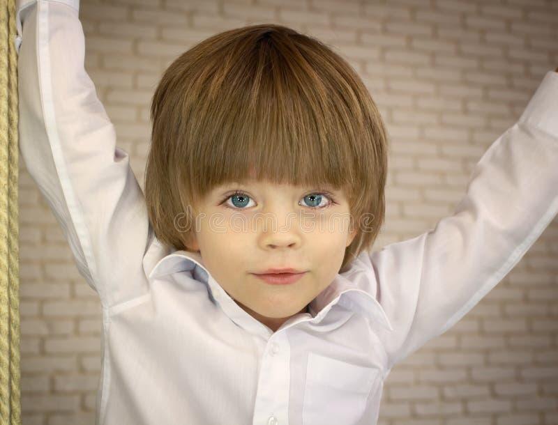 Trzyletnia ładna chłopiec fotografia royalty free