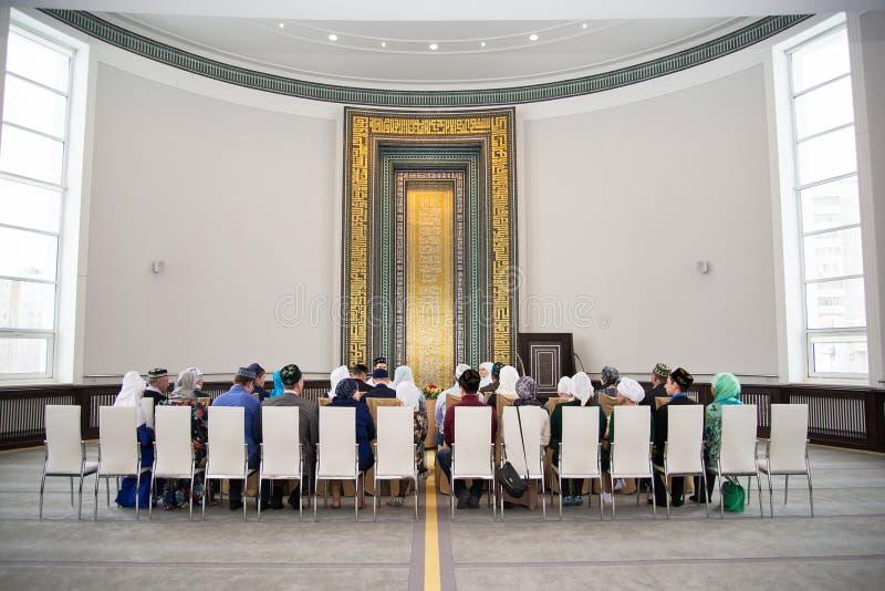 Trzymać małżeństwo w meczecie obraz royalty free